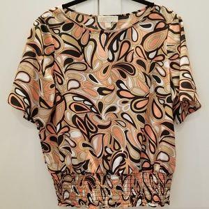 Michael Kors peasant blouse short sleeves